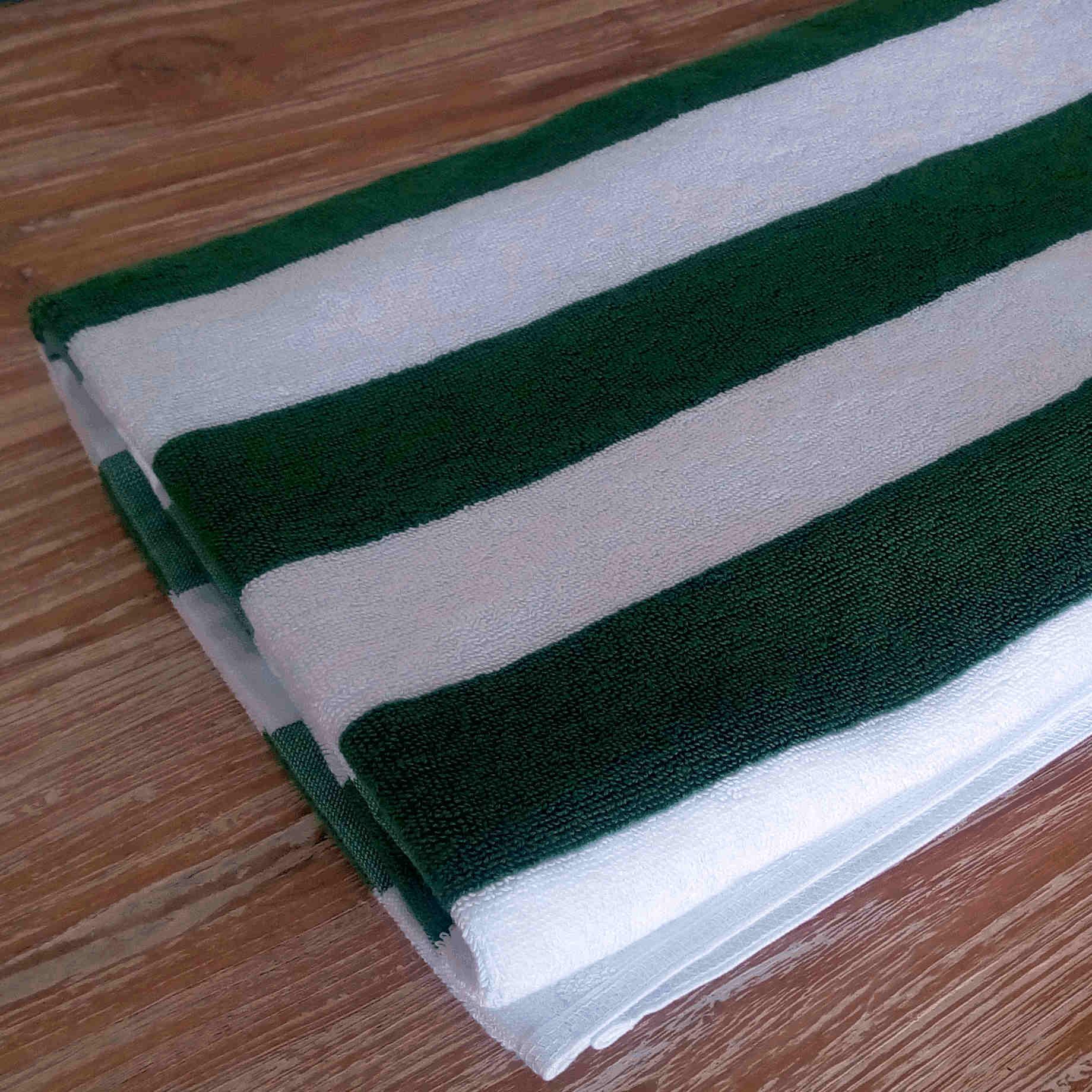 Pool Towel - WHITE-GREEN